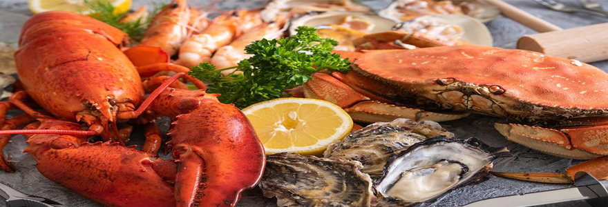 plats de fruits de mer